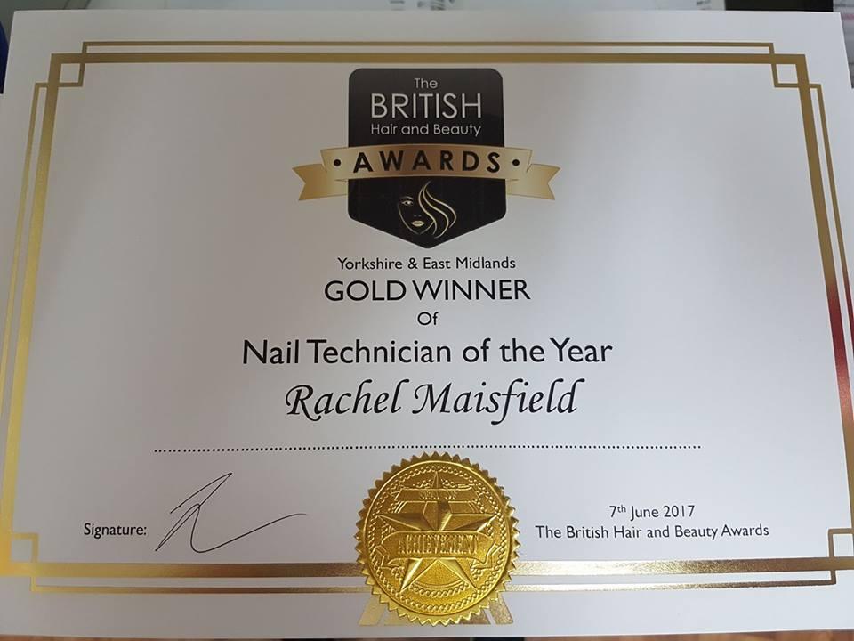 Rachel Maisfield Certificate