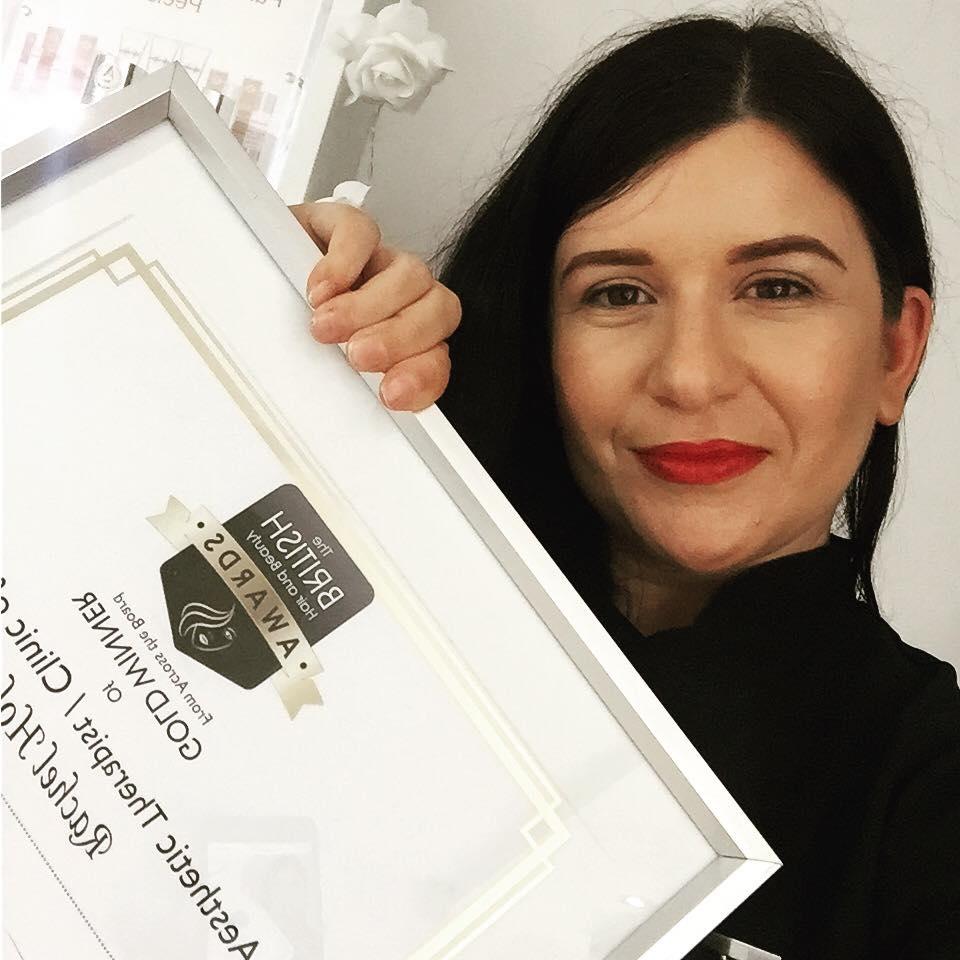 Rachel Holmes with Her Certificate